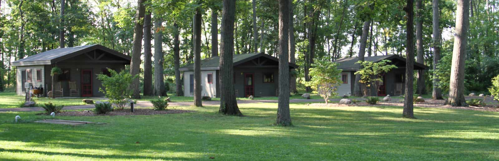 Camp Woodbury cabins