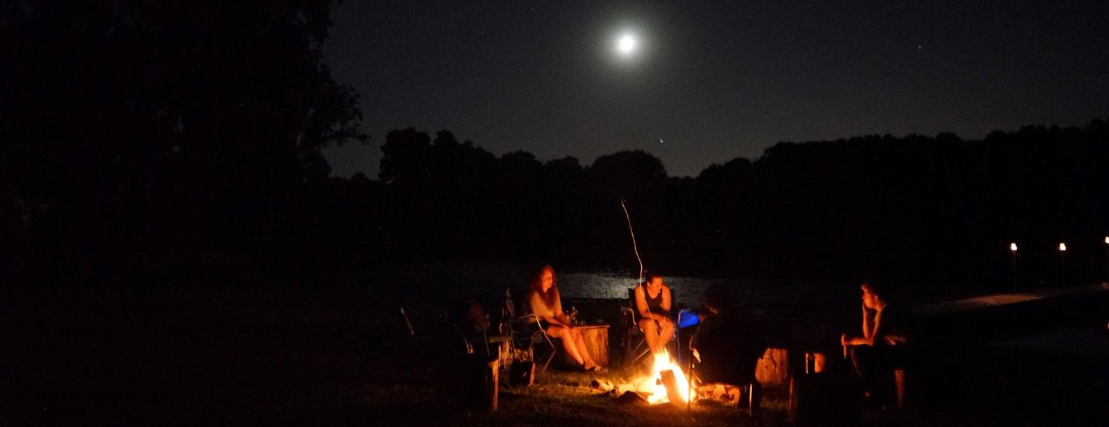 Camp Woodbury campfire