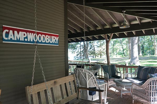 Camp Woodbury lodge porch