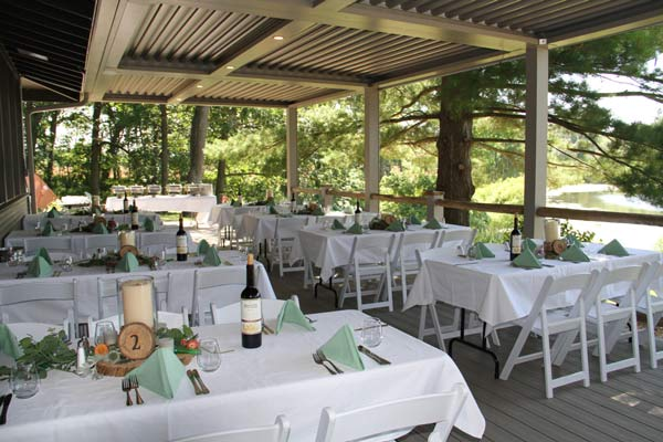 Camp Woodbury wedding tables