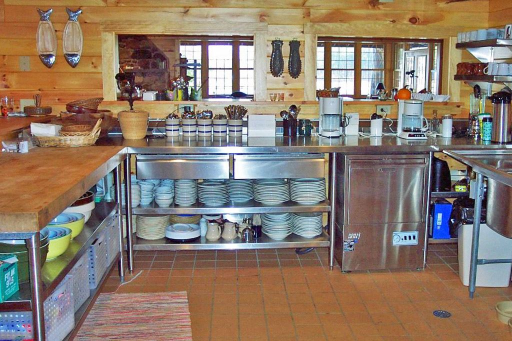 Kitchen inside the lodge