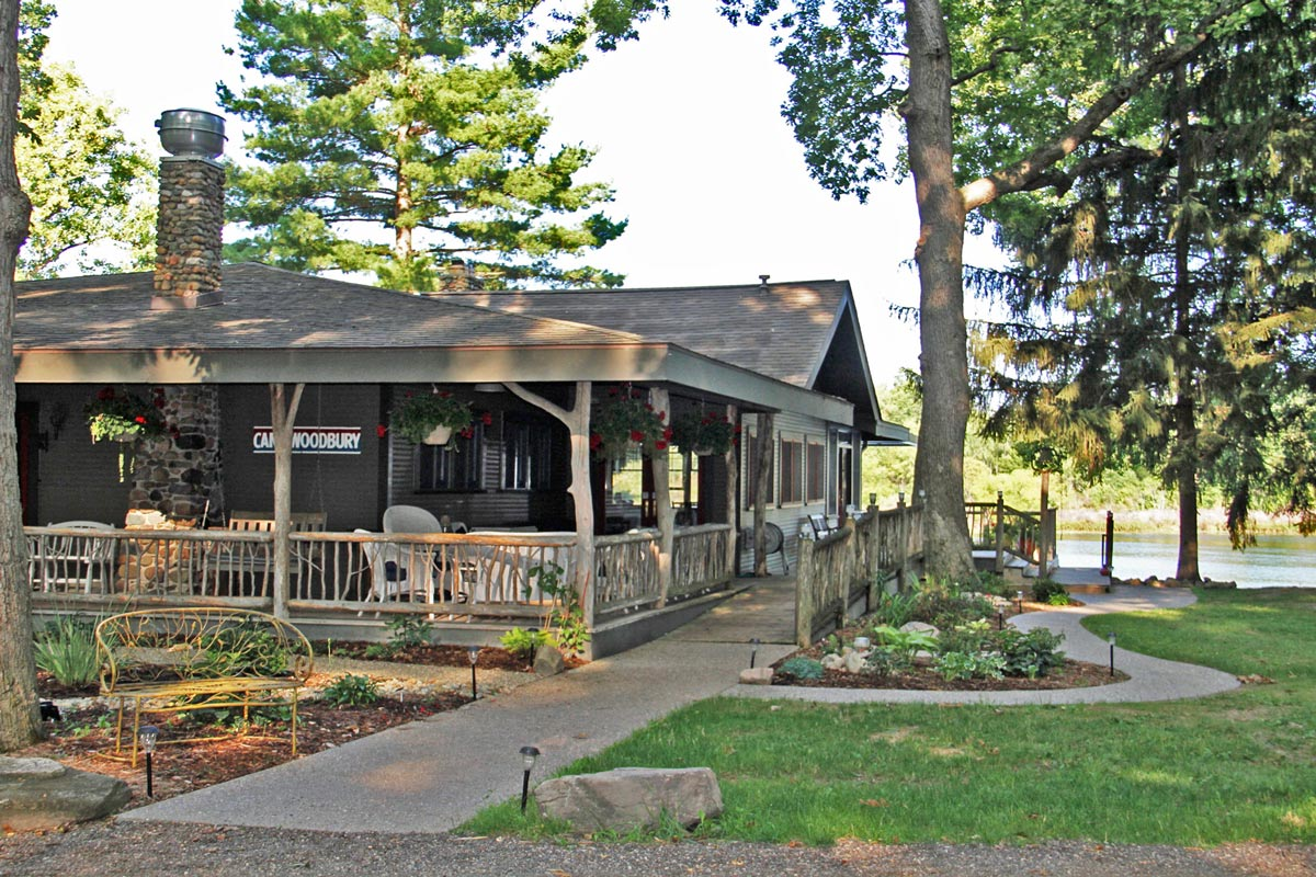 Camp Woodbury lodge in the Summer