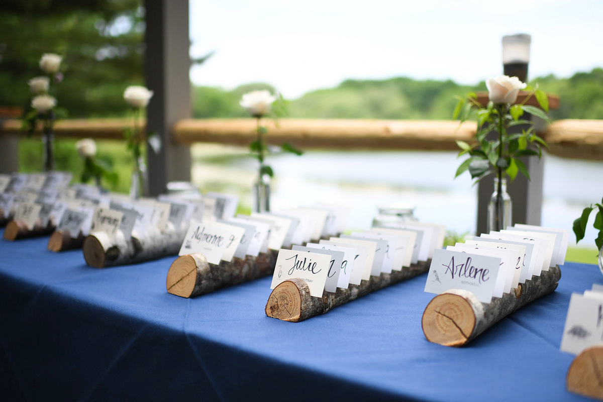 Wedding table name cards